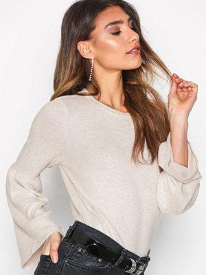 Only onlNEW Maye Flare L/S Pullover Cc K Ljus Brun