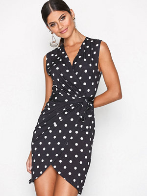 NLY One Wrap Print Dress Dots