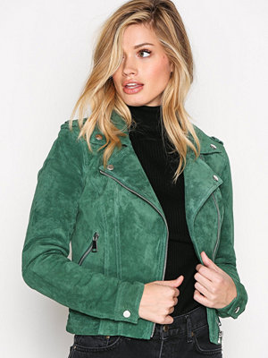 Skinnjackor - Vero Moda Vmroyce Short Suede Jacket Col Grön