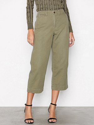 Polo Ralph Lauren omönstrade byxor Boyfriend Wide Fit Leg Pant Green
