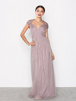 Little Mistress Crochet Empire Maxi Dress