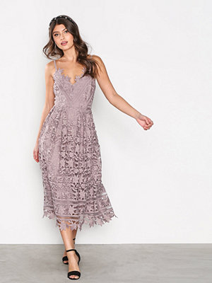 Little Mistress Crochet Lace Dress Oyster