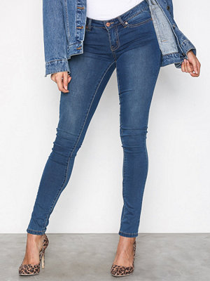 Noisy May Nmeve Lw S.Slim Jeans M.Blue GU501 Blå