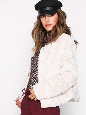 Vero Moda Vmcurl Short Fake Fur Jacket Noos Oatmeal
