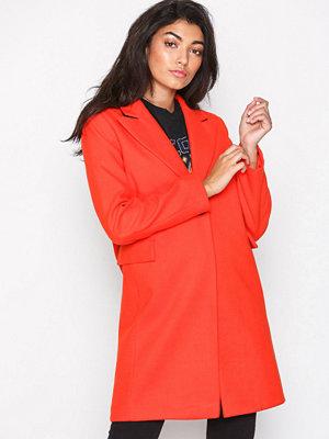 Topshop Twist Seam Coat Red