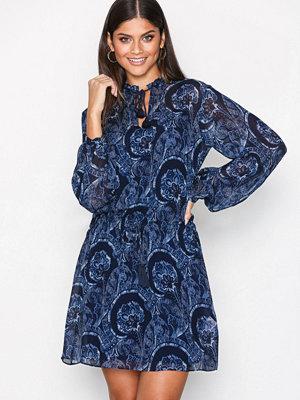 Polo Ralph Lauren Long Sleeve Viscose Dress Indigo