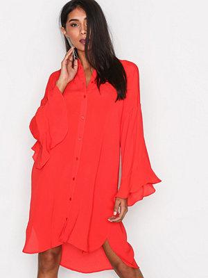 Vero Moda Vmjade Flounce 3/4 Long Shirt FD17 Röd