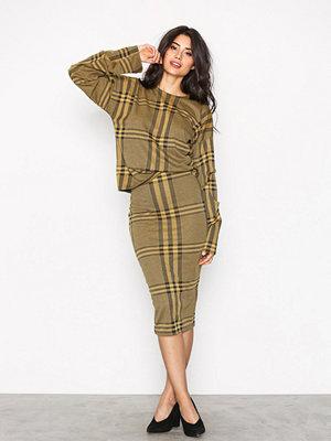 NLY Trend Pencil Check Skirt Rutig