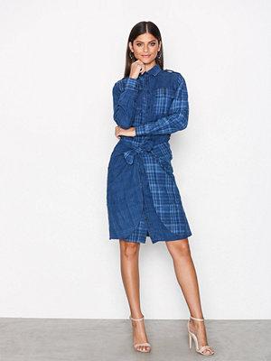 Polo Ralph Lauren Long Sleeve Linen Dress Indigo