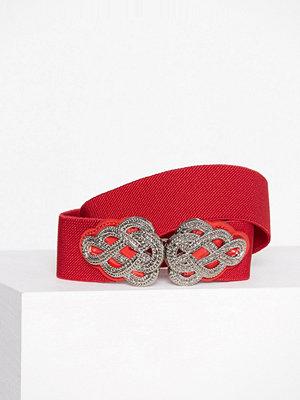 Bälten & skärp - Pieces Pcmaddie Waist Belt Mörk Röd