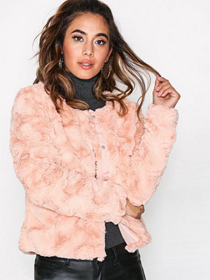 Vero Moda Vmcurl Short Fake Fur Jacket Rep Ljus Rosa