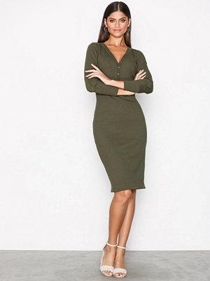 Polo Ralph Lauren Long Sleeve Drop Waist Dress Green