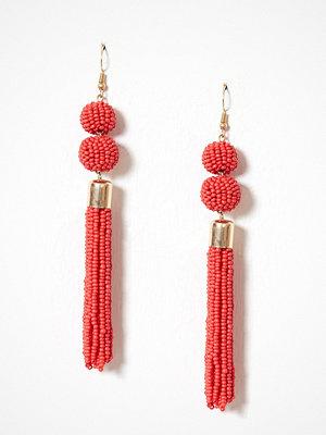 Only örhängen onlMILLE Pearl Tassel Earring Acc Mörk Röd
