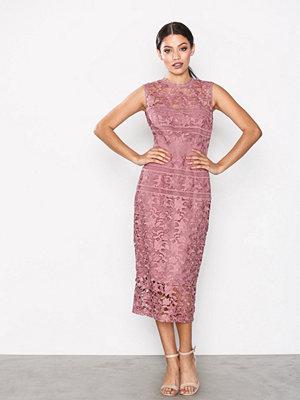 Little Mistress Crochet Bodycon Dress Rosette