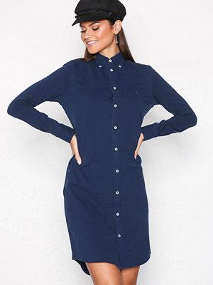 Polo Ralph Lauren Long Sleeve Shirt Dress Blue