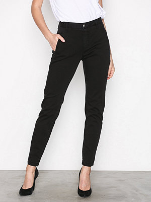 Selected Femme svarta byxor Sfingrid Mr 2 Tapered Chino Black N Svart