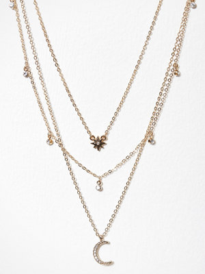 NLY Accessories halsband Moon Necklace Guld