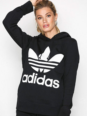Street & luvtröjor - Adidas Originals Trefoil Hoodie Svart