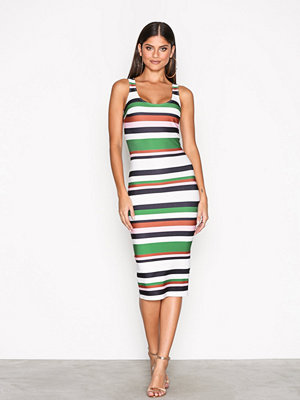 NLY One Scoop Neck Print Dress Randig