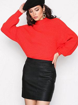 Only onlBASE Lg Faux Leater Skirt Otw Svart