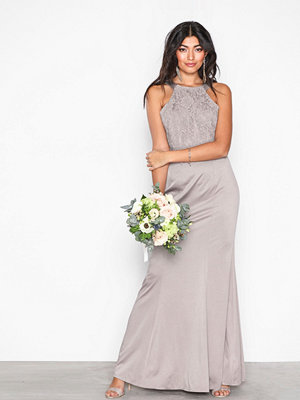 Little Mistress Lace Overall Maxi Dress Oyster