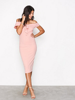 Ax Paris Bardot Frill Dress Blush