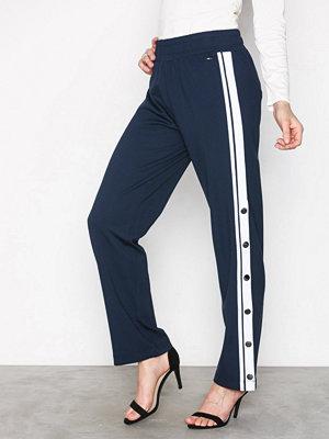 Tommy Jeans marinblå byxor Tjw Snap Pant Black Iris