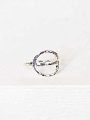 NLY Accessories Open Circle Ring Silver