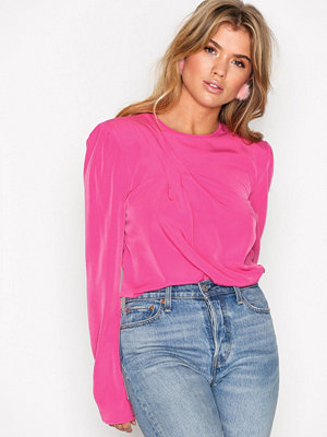 NLY Trend Power Shoulder Blouse Fuchsia