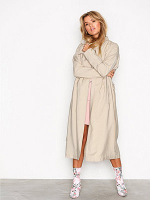 NLY Trend Long Parka Coat Beige