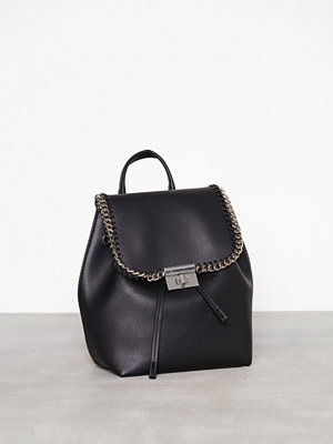 Topshop svart ryggsäck Minilock Chain Backpack Black