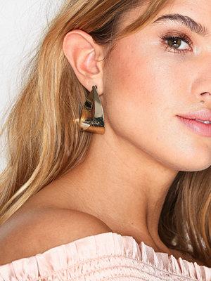 NLY Accessories örhängen Oversized Tear Hoop Earrings Guld