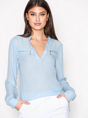 NLY Trend Soft Day Blouse Ljus Blå