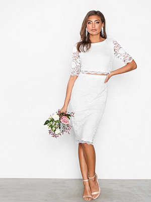NLY Eve Lace Dream Bodycon Dress Vit