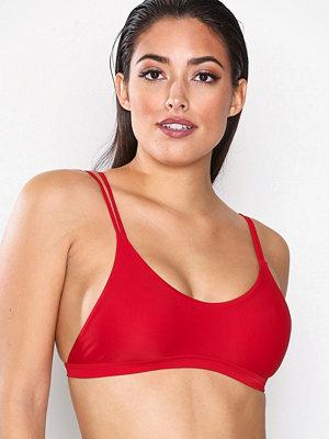NLY Beach Double Strap Bikini Top Röd