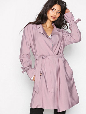 NLY Trend Wrapped Trench Coat Ljus Rosa
