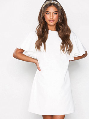 NLY Trend Frill Sleeve Dress Vit