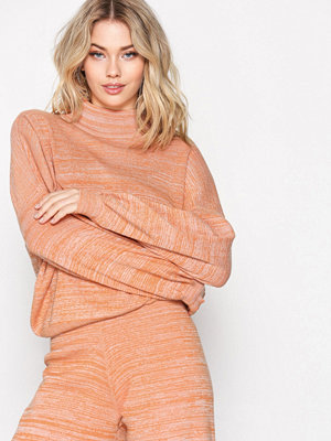 Selected Femme Sfstefania Ls Knit Highneck Ex Orange