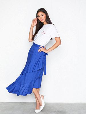 NLY Trend Frill Wrap Skirt Blå