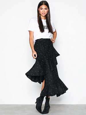 NLY Trend Frill Wrap Skirt Mönstrad