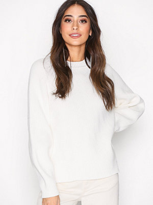 Tröjor - Filippa K Sculptural Cotton Sweater Cream
