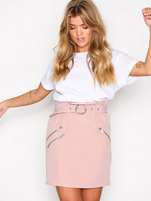 NLY Trend Belted Waist Skirt Ljus Rosa