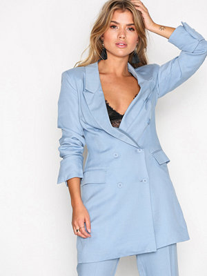 NLY Trend Double Up Blazer Ljus Blå
