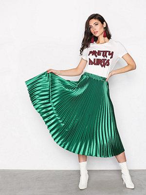 Y.a.s Yaskaria Pleated Skirt Mörk turkos