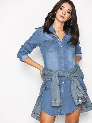 Vila Vibista Denim Dress-Noos Blå