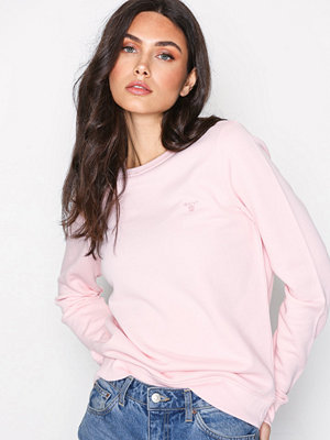 Gant O1. Tonal Shield C-Neck Sweat Rose
