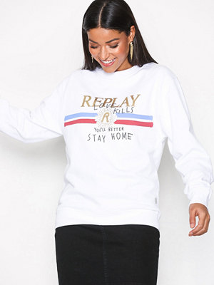 Replay W3975C Sweatshirt Vit