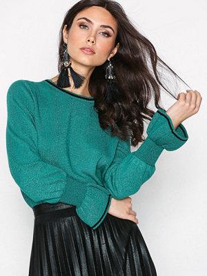 Tröjor - Vero Moda Vmmillen Cuff Ls O Neck Blouse Sb 3 Mörk Grön