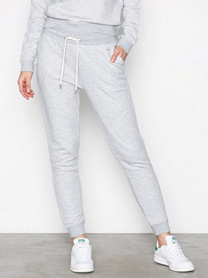 Gant vita byxor Tonal Shield Sweat Pants Light Grey Melange