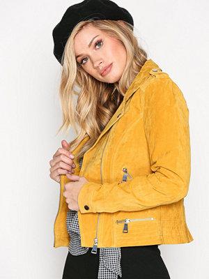 Vero Moda Vmroyce Short Suede Jacket Col Golden Glow
